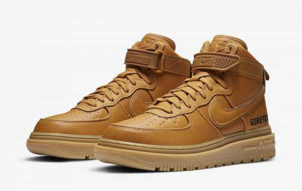 "Fashion Nike Air Force 1 Gore-Tex Boot ""Wheat"" Sneakers CT2815-200"