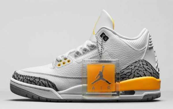 "Air Jordan 3 ""Laser Orange"" White/Laser Orange-Cement Grey-Black 2020 CK9246-108 For Sale Online"