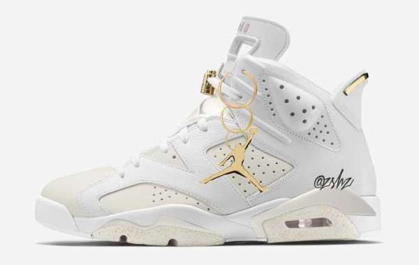 """Air Jordan 6 WMNS """"Gold Hoops"""" DH9696-100 will be officially released on July 1st"""