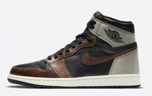 "Chameleon + shadow gray! New Air Jordan 1 High OG ""Patina"" 2021 New Arrival 555088-033"